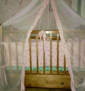 """Кроватка маятник """"Наша мама"""""""