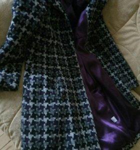Пальто фиолетово-серое