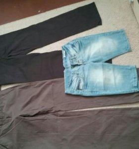 Брюки и джинсовые шорты (размер М)