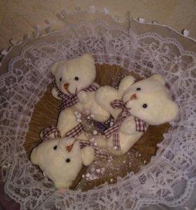 Букеты из плюшевых мишек