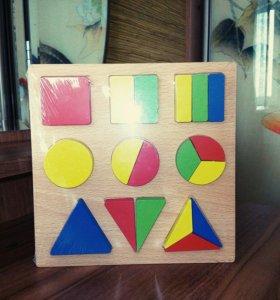 Игрушка для детей развивающий планшет дроби