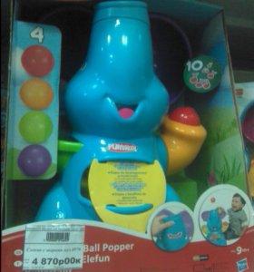 Слоник с шарами ,музыкальный