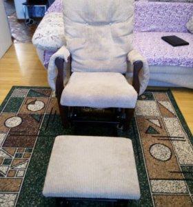 Кресло-качалка + пуфик- качалка