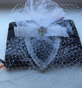 Шляпка вуалетка свадебная