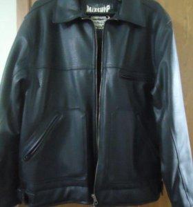 Куртка мужская теплая кожанка