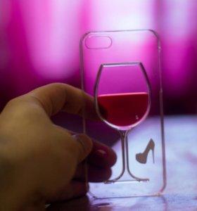 Чехлы на айфоны с переливающейся жидкоситю