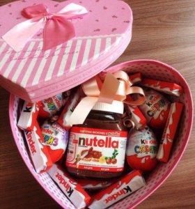 Киндер сюрприз в подарочной коробке на праздник