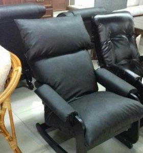 Кресло качалка экокожа
