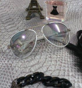 Новые солнцезащитные очки авиаторы