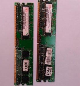 Оперативная память DDR2 800 MHz 512 MB 2шт
