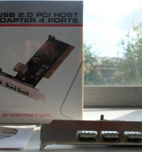 Контроллер PCI для расширения на 4 USB порта