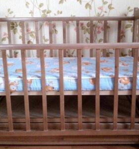 """Детская кроватка """"Фея"""" с поперечным маятником"""