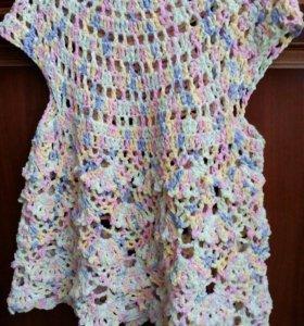 Платье вязанное вискоза
