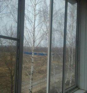Окно на лоджию металлопластик 3.65 /1.80