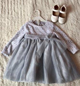 Платье +туфли на девочку