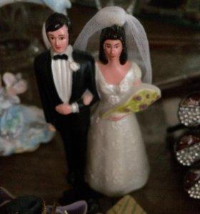 На торт свадебный пара