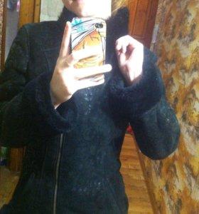 Дубленочка, хорошая, теплая на зиму