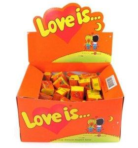 Жвачка Love is.