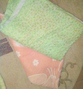Два одеяла байковых и подушка