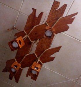 Деревянная люстра