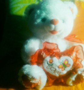 """Мягкая игрушка """"Мишка с сердцем"""""""