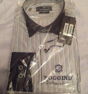Абсолютно новая мужская рубашка poggino. Размер м
