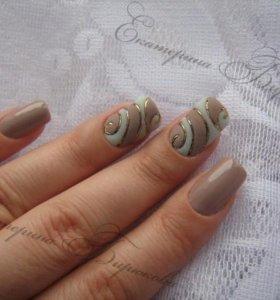 Покрытие гель-лак (shellac), наращивание ногтей.