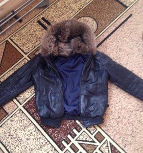 Куртка кожаная Virado 46 размер
