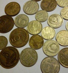 Монеты СССР 61-88 год. Все за 1500руб.