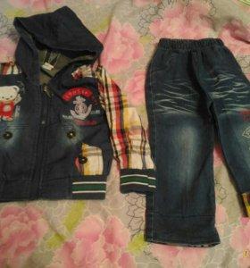 Кастюм джинсовый 1-1,5 года