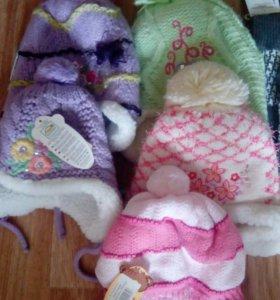 Шапки вязка зима для девочки