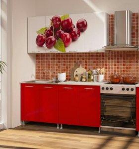 Кухня 2м вишня
