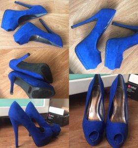 Замшевые туфли!Новые!!