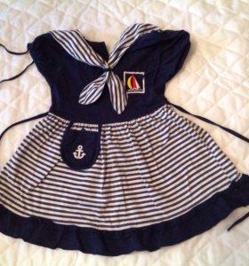 Трикотажное платье на рост 98 см