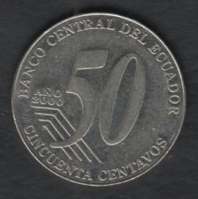 Эквадор 50 центаво 2000