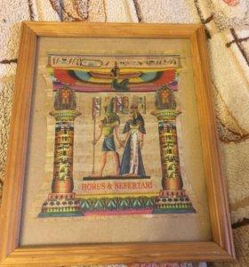 Картина из папируса