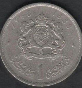 Марокко 1 франк 1968