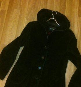 Куртка замша натуральная с капюшоном