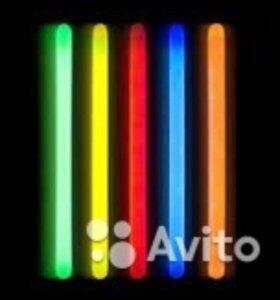 Glowsticks. Светящиеся палочки.
