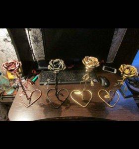 Кованые розы 🌹 на подставке