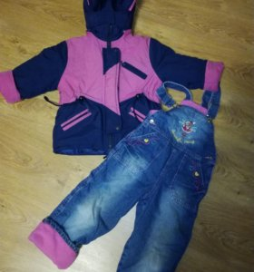 Куртка зимняя на 4-5лет