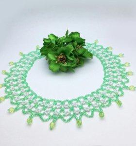 "Ожерелье "" Зеленый луг"""
