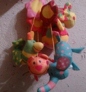 Мягкие игрушки подвески для малыша