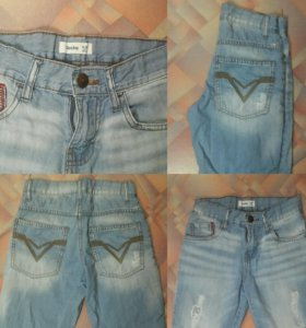 Модные джинсовые шорты на мальчика 8 - 10 лет