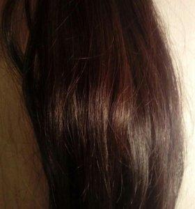 Волосы натуральные 50 см около 100 прядей