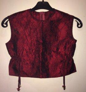 Комплект новый (юбка,топ,накидка)