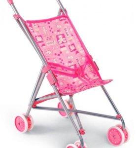 Игрушечная коляска с козырьком