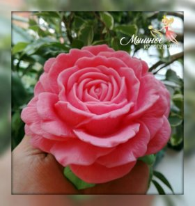 """Мыло ручной работы """"Шикарная роза"""""""