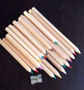 Набор карандашей акварельных 10 штук.
