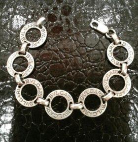 Серебряный браслет bvlgari